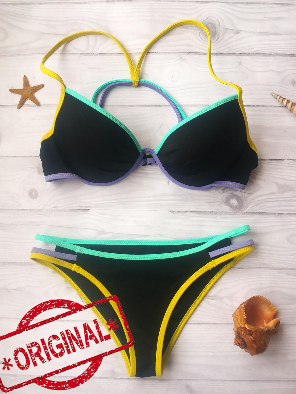 Купальник Раздельный Victoria's Secret плавки ExtraSmall, топ - 32C 70C Оригинал,  Виктория Сикрет