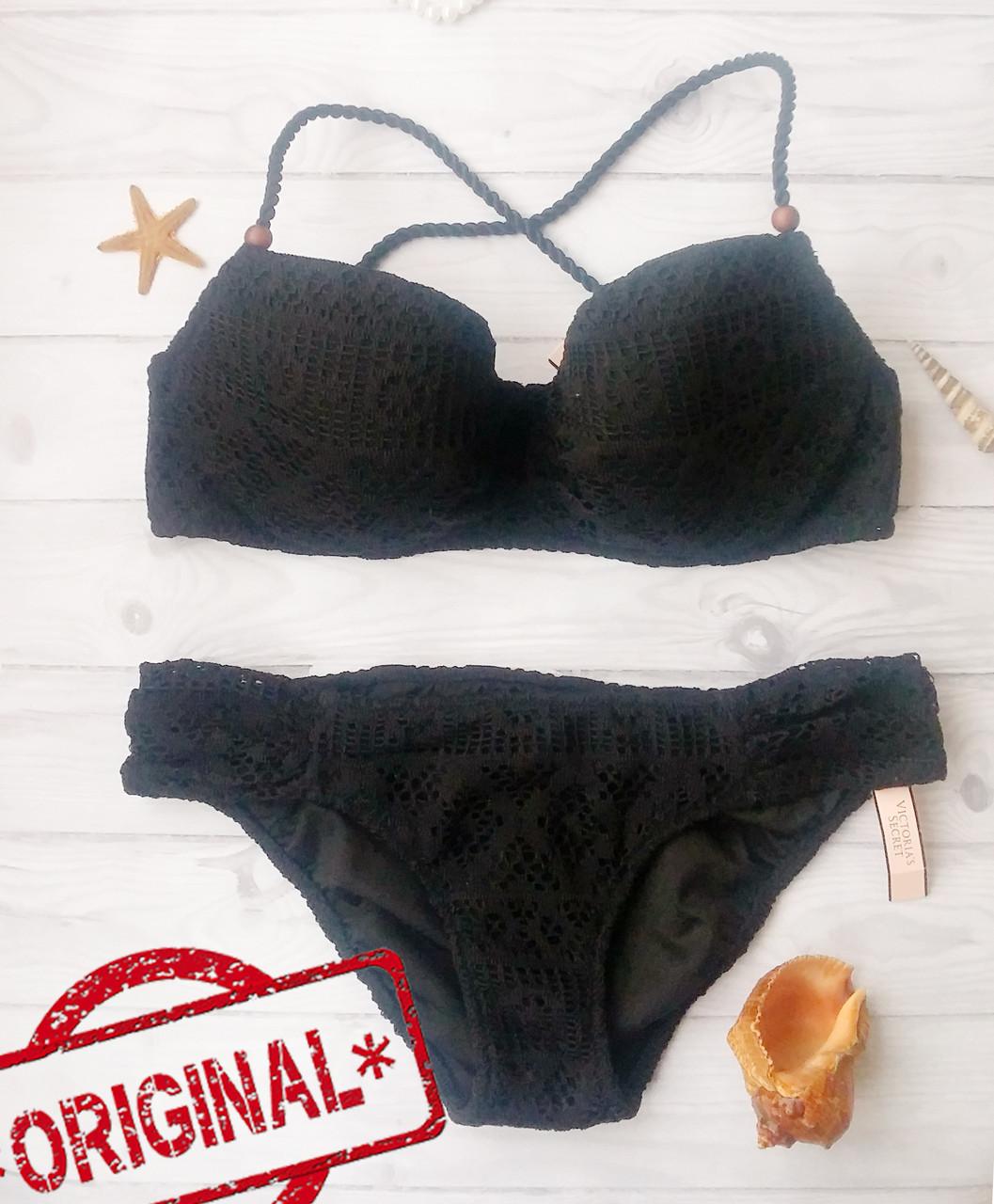 Купальник Раздельный Victoria's Secret плавки Small, топ - 32DD 70DD, Оригинал,  Виктория Сикрет