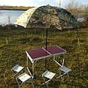 "Зонт-палатка диаметр 2.2 метра ""Дубок"" (2 окна ПВХ), фото 5"