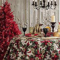 """Новогодняя скатерть """"Christmas Flowers"""", фото 1"""