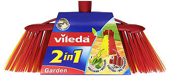 Щетка для уборки на улице Vileda Garden 2 in 1 (Виледа метла уличная пластиковая )