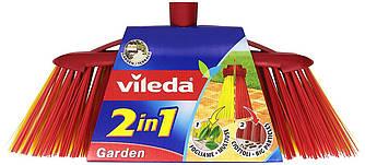 Щітка для прибирання на вулиці Vileda Garden 2 in 1 (Віледа мітла вулична пластикова )