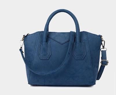 Женская сумка с ручками классическая деловая через плечо Lightness Синяя