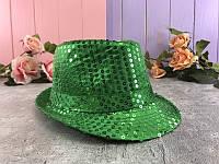 Шляпа Диско с пайетками, зеленая