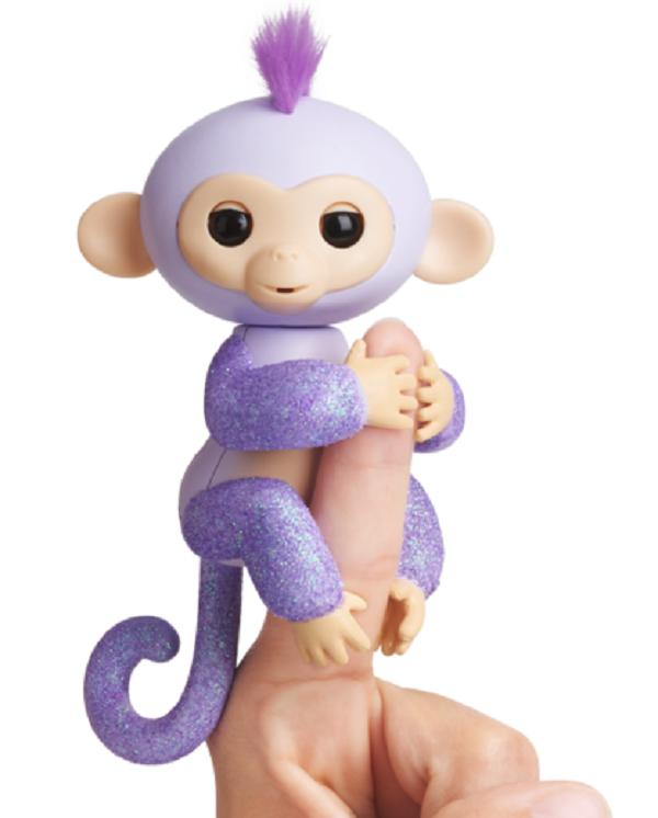 Интерактивная гламурная ручная обезьянка (фиолетовая) Кики W3760/3762