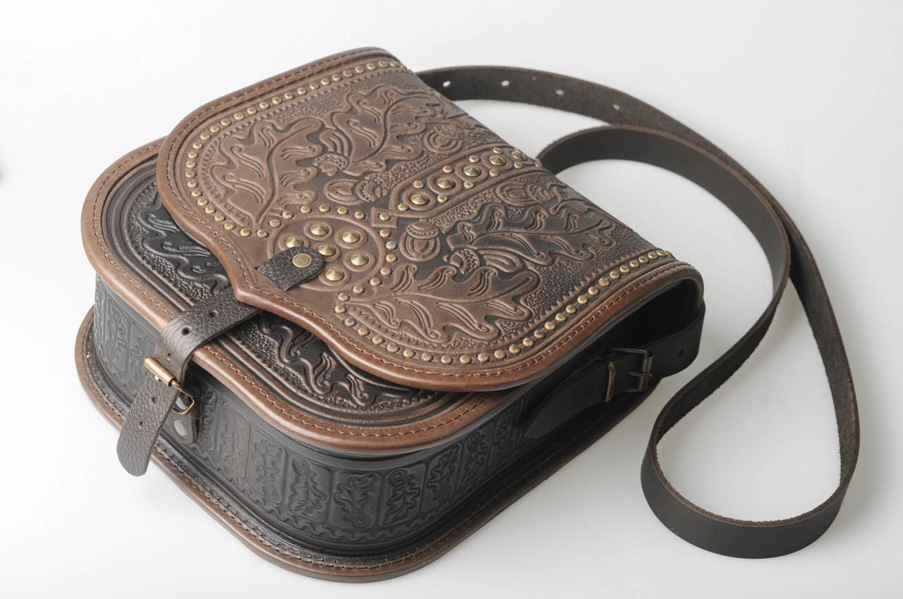 Женская кожаная сумка ручной работы (метод горячего тиснения) LOD -7 ... dc23d5e565201