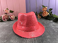Шляпа Диско с пайетками, ярко-розовая
