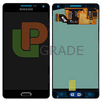 Дисплей  Samsung A500H Galaxy A5 2015/A500F + тачскрин (сенсор), черный, Midnight Black, OLED, копия хорошего качества