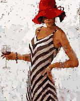 Раскраска по номерам Рапсодия винтажного бордо худ Кон Андрэ (VP311) 40х50 см