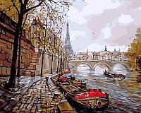 Раскраска по номерам DIY Babylon Набережная Парижа худ Бартенева Елена (VP343) 40 х 50 см