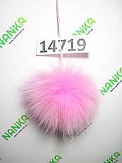 Меховой помпон Песец, Розовый, 9 см, 14719, фото 2