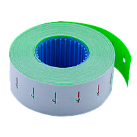 Ценник Buromax 22*12мм (1000шт, 12м), прямоугольный, внутренняя намотка, зеленый (BM.281101-04)