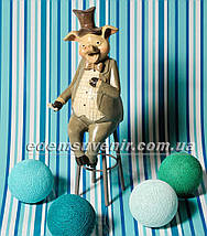 Статуэтки декоративные Свин на стуле и Свинка с зонтиком, фото 2