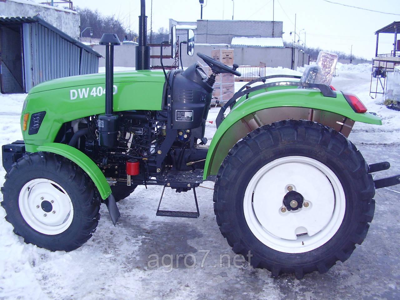 Трактор с доставкой DW 404DR (40л.с., 4х4, 4 цил, реверс)