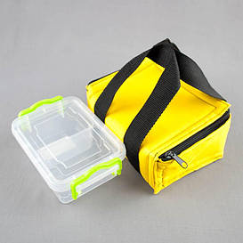 Комплект термосумка желтая + контейнер  для еды 0,5 л