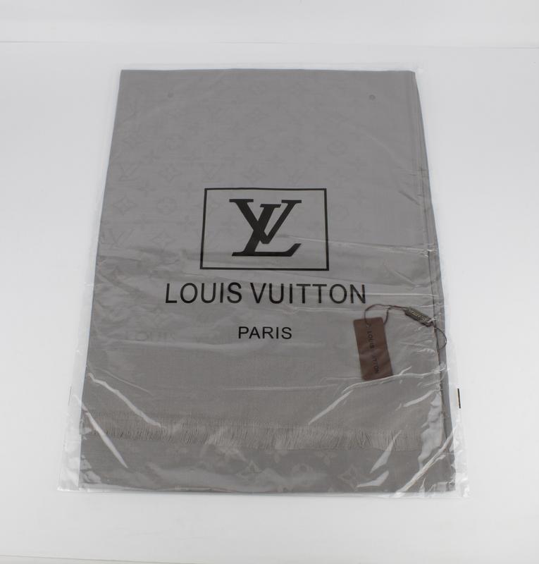 ... Палантин кашемировый серый двусторонний Louis Vuitton 8881-16, фото 4 9908df9a056