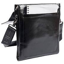 b6b6e2430537 Мужская кожаная сумка HT 5138-3 черная лаковая (27х22х4,5 см) купить ...