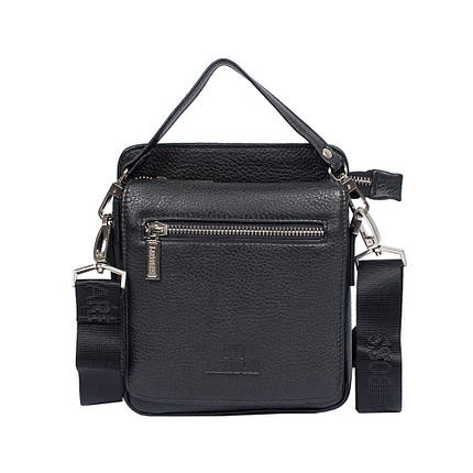 d52f2fd0740f Мужская кожаная сумка Lare Boss M83003-2 черная (20х17,5х5 см ...