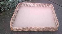 Корзина лоток плетеный на хлеб, фото 1