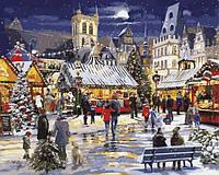 Расскраска по цифрам 40×50 см. Рождественский базар Художник Ричард Макнейл