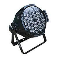 Светодиодный прожектор Led par 54x3 RGBW 3в1 светомузыка, подсветка, дискосвет