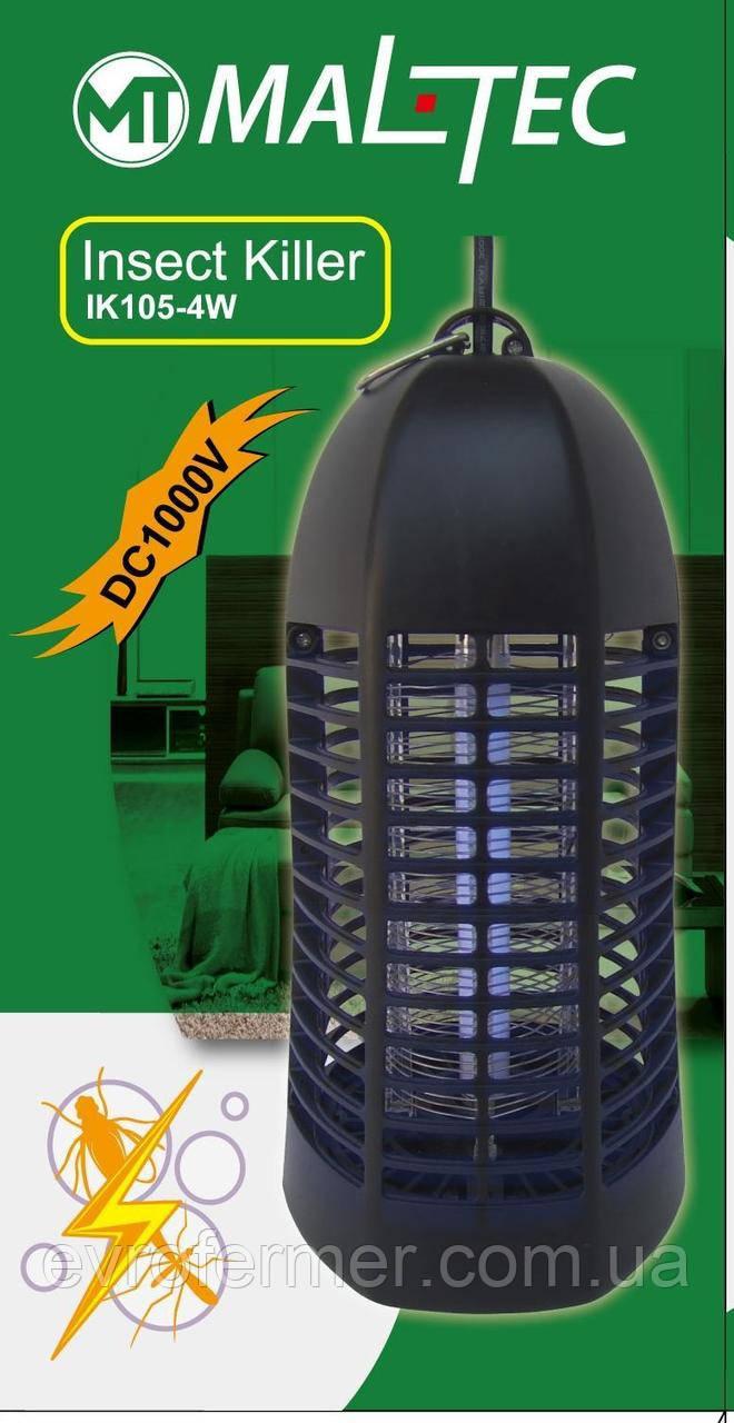 Электрическая антимоскитная лампа Maltec IK-105 для квартиры, дома, дачи площадью до 20 кв.м.