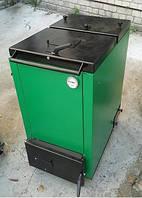 Твердотопливный шахтный котел Макситерм 12 кВт утеплённый длительного горения