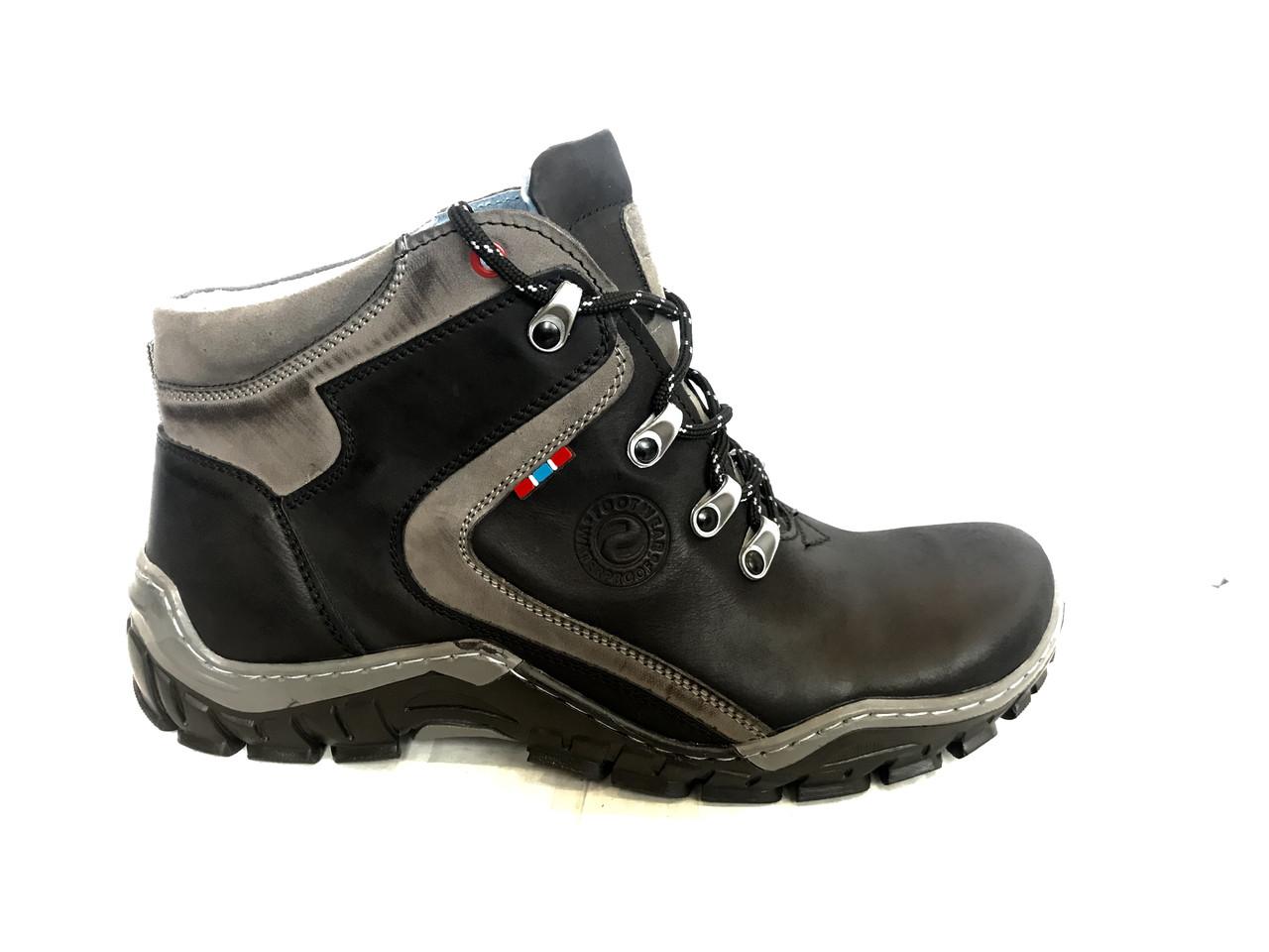 Зимние мужские ботинки на шнуровке высокие Mario BOSCHETTI