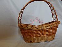 Плетеная корзина на подарки, фото 1
