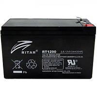 Аккумуляторная батарея AGM RITAR RT1290B, Black Case, 12V 9.0Ah ( 151 х 65 х 94 (100) ) Q10
