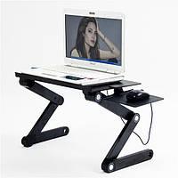 Столик для ноутбука Laptop table T8 Черный