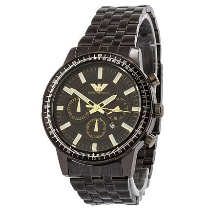 ЧАСЫ Мужские EMPORIO ARMANI SSB Black (эмпорио армани черные) Наручные Чоловічий годинник реплика, фото 2