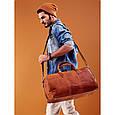 Дорожная кожаная сумка, саквояж 33 л Always Wild C20.004 brown, фото 10