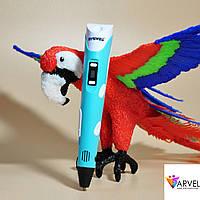 3D Pen 3Д Ручка принтер Myriwell RP 100B с LCD дисплеем второго поколения бирюзовая