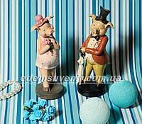 Статуэтки декоративные Свин во фраке и Свинка с букетом