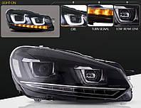 Передние фары LED тюнинг оптика Volkswagen Golf 6 стиль гольф 7 (под ксенон)