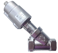 Клапан с пневмориводом G 1/2, 21IA4T15GC1-5 из нержавеющей стали ODE Италия. Пневмоклапан.