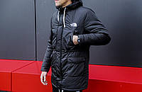 """Молодежная мужская парка куртка """"The North Face"""" (Норд Фейс) на зиму черного цвета - реплика"""