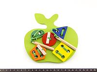 Деревянная игрушка Шнуровка Яблоко, фото 1