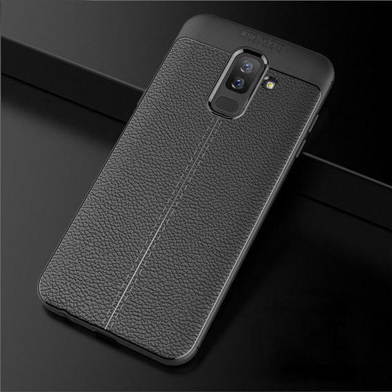 "Накладка Samsung A6+ 2018 ""Skin Shield"" Чёрная"