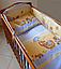 """Ткань польская  для детской постели с набивным рисунком """"слоник с зонтиком"""" все кроме кофейного, фото 4"""