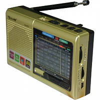 Портативная колонка радио MP3 USB Golon RX 6622 Gold