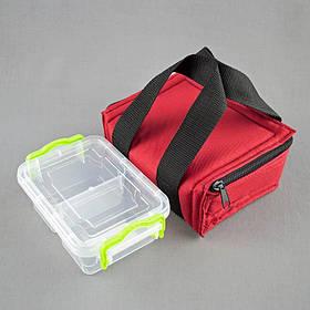 Комплект термосумка красная + контейнер  для еды 0,5 л
