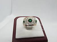 """Серебряное кольцо с золотыми пластинами""""Богема"""", фото 1"""