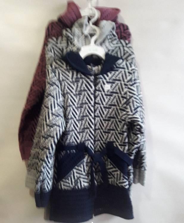 Детская кофта для девочки вязанная теплая  140-152