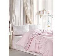 Комплект постельного белья ранфорс Cotton box Candy Rita Pudra евро