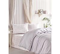 Комплект постельного белья ранфорс Cotton box Candy Rita Gri евро
