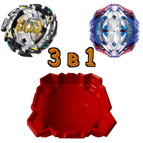 Набор 3 в 1: Арена  + Бейблейд Вайс Леопард  S3 и Beyblade Император Форнеус SB