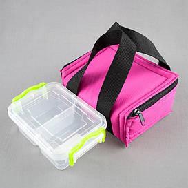 Комплект термосумка розовая + контейнер  для еды 0,5 л