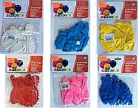 Воздушный шар 002- америка плотный  белый голубой желтый красный розовый синий размер 30см, 2,8г 10шт  уп12